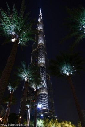 Burj Khalifa From Under The Palms
