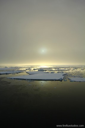 Antarctic Misty Sunset